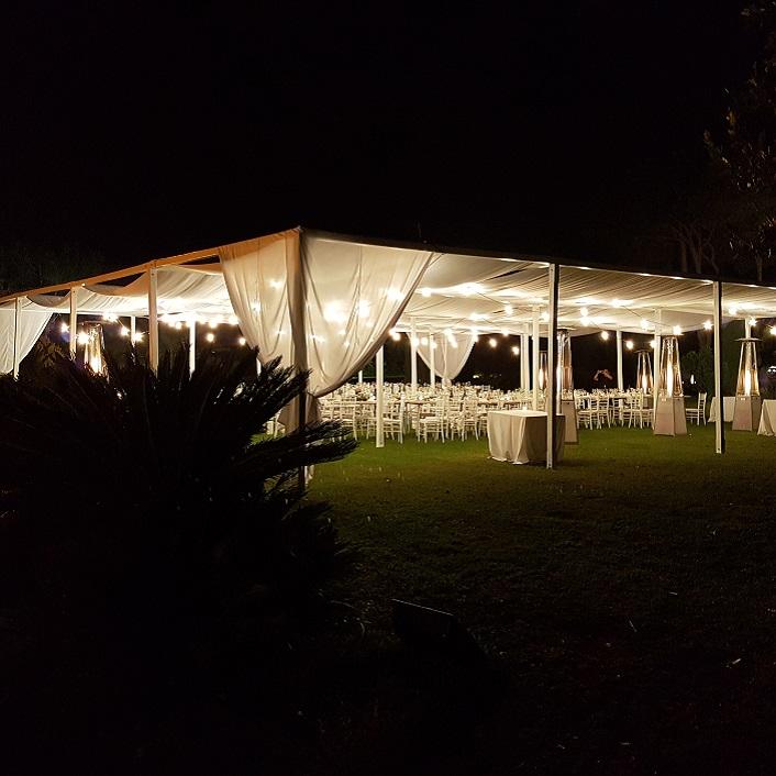 Illuminazione per eventi e matrimoni